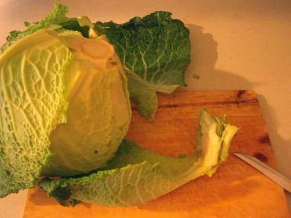 Come pulire il cavolo verza ricette di cucina con foto - Cucinare il cavolo ...