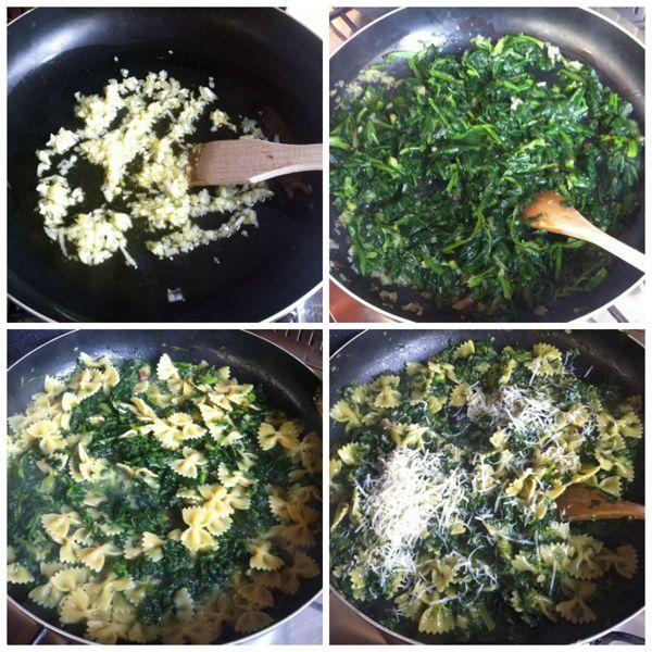 Pasta con gli spinaci ricetta pasta con gli spinaci for Cucinare spinaci