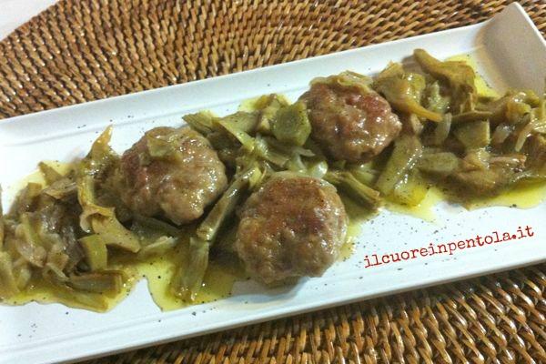 Polpette con carciofi ricette di cucina il cuore in pentola for Ricette con carciofi