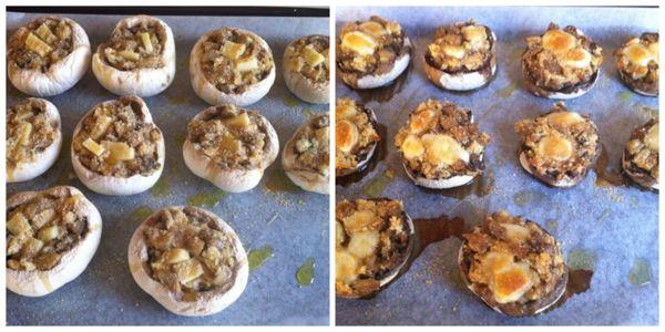 cucinare funghi ripieni