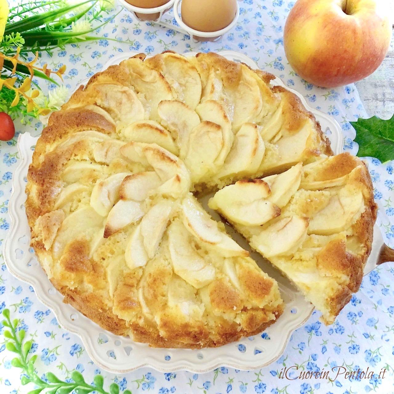 7b5ea209171b Torta di mele  ricetta classica Il Cuore in Pentola