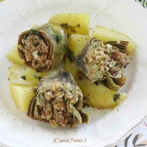 carciofi ripieni alla siciliana