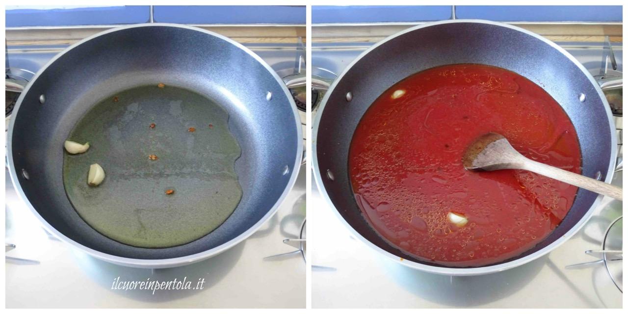 fare sugo di pomodoro