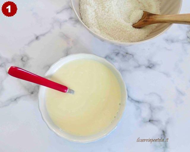 mescolare ingredienti secchi e ingredienti umidi