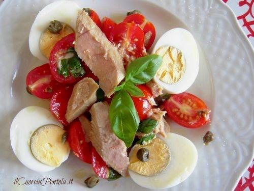 insalata di tonno e uova