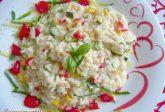 Risotto con verdure e formaggio Lariano
