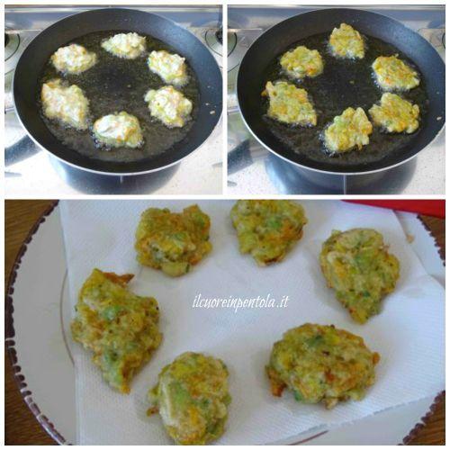 friggere frittelle di fiori di zucca