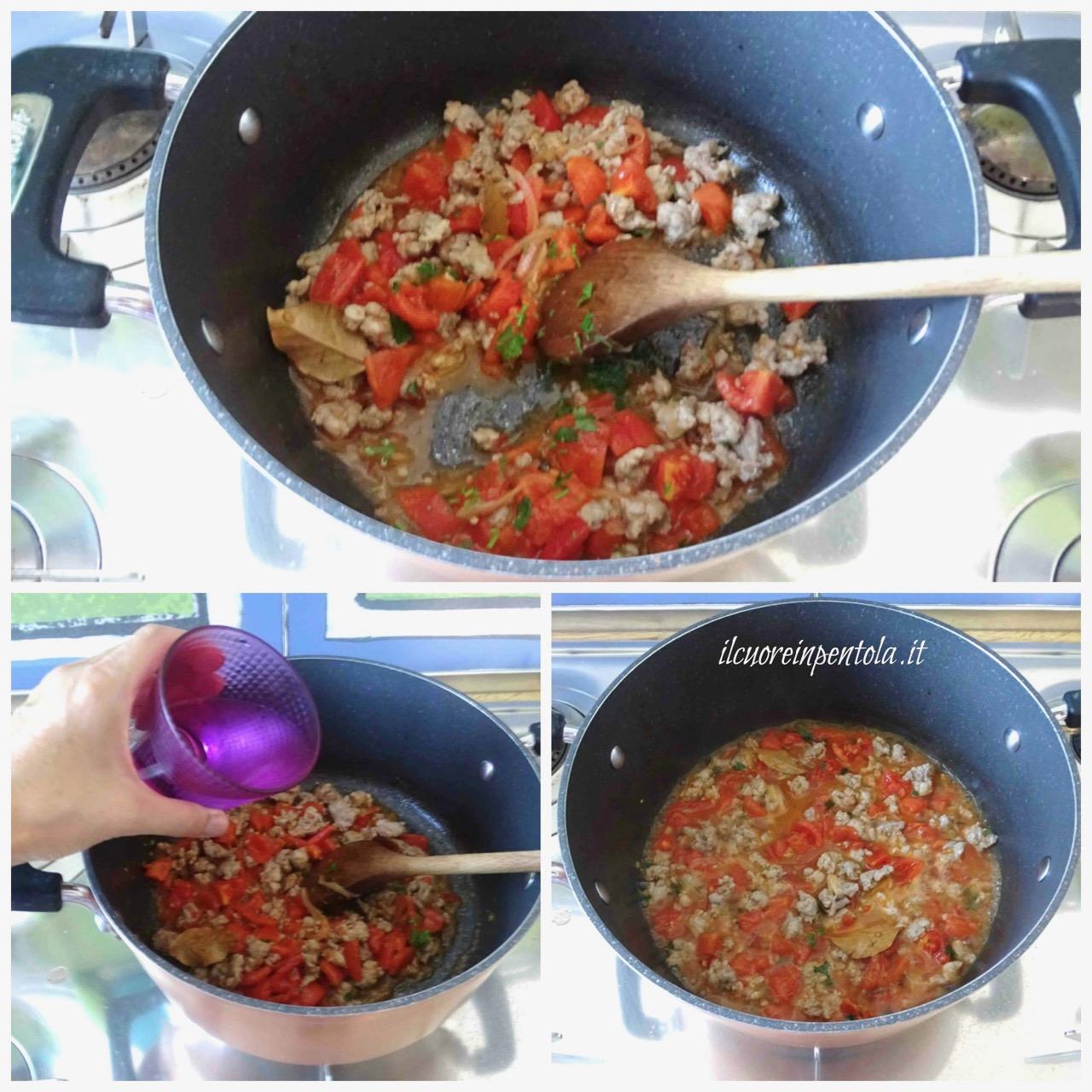 cuocere sugo di salsiccia