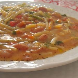 minestra di fagioli e tenerumi