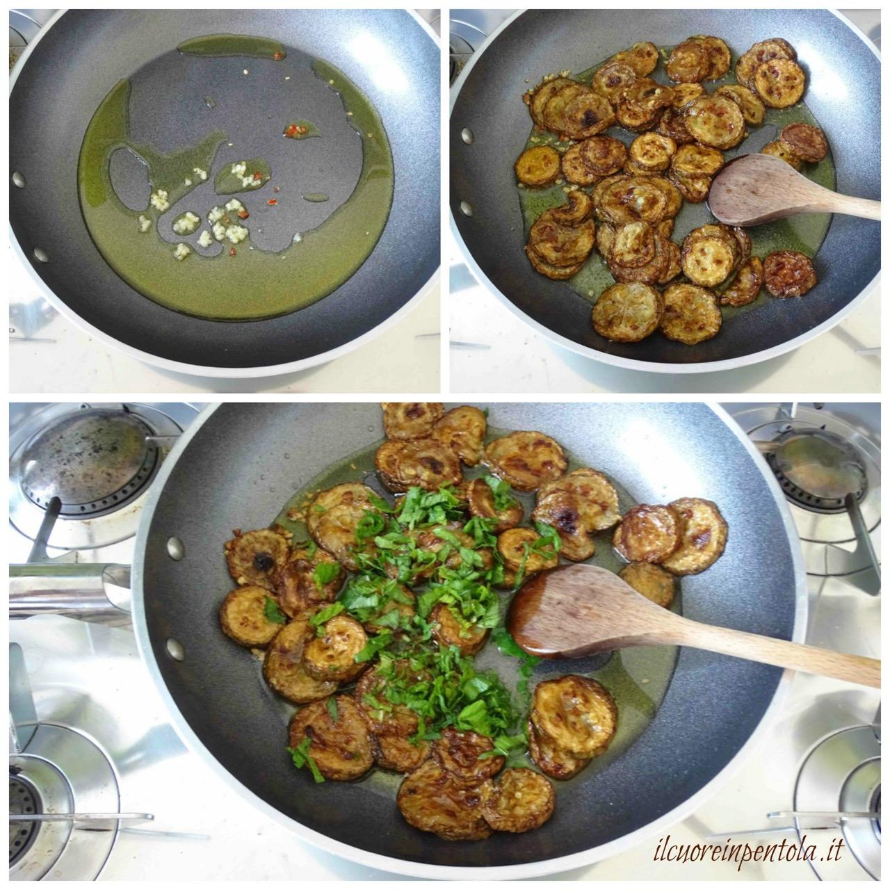 insaporire zucchine