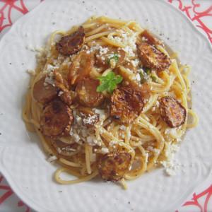 pasta con la zucchina fritta siciliana