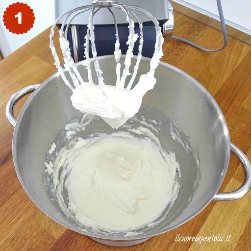 montare burro e zucchero a velo