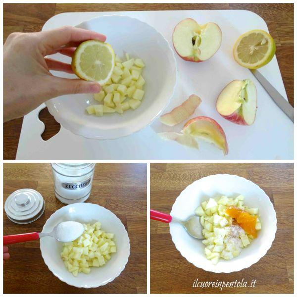 preparare ripieno di mele