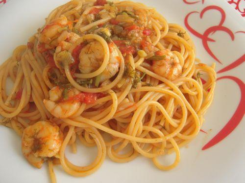 Ricetta scampi con spaghetti