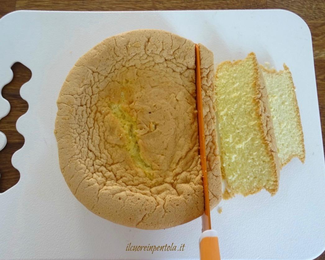 affettare pan di spagna