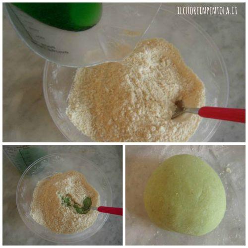 colorare pasta di mandorle di verde