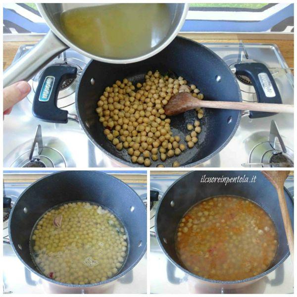 aggiungere brodo e cuocere