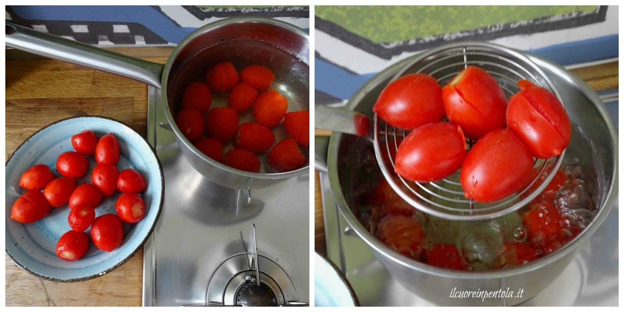 sbollentare pomodori