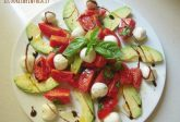 Insalata di avocado pomodorini e mozzarelle