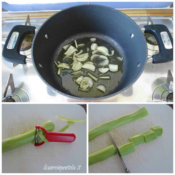 tagliare zucchina