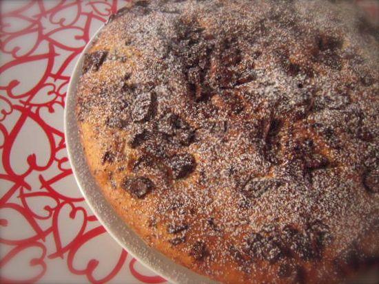 torta con ricotta e cioccolato fondente