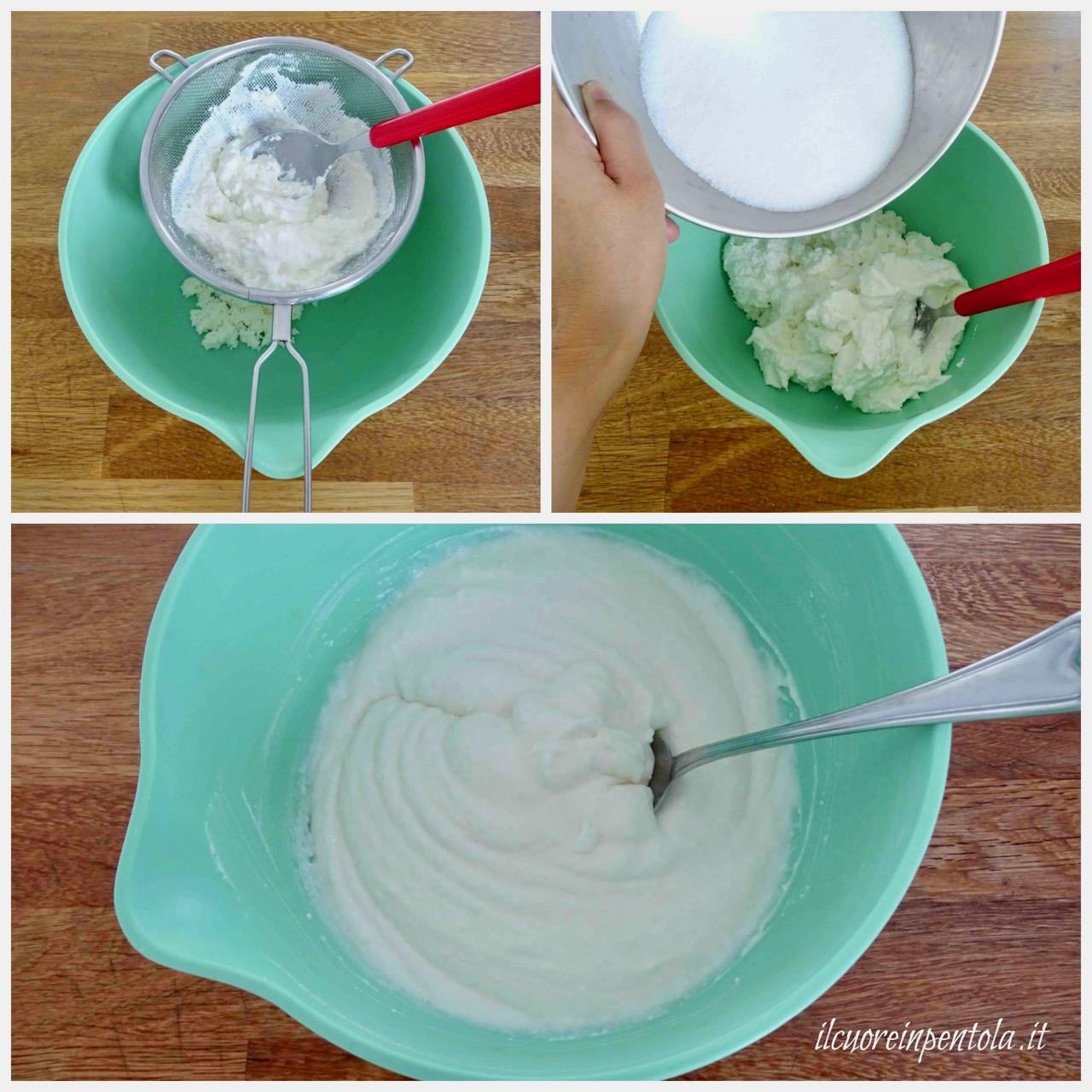 preparare crema di ricotta