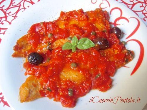 filetti di merluzzo alla livornese - merluzzo alla livornese foto - Cucinare Filetto Di Merluzzo