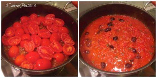 cuocere pomodoro con olive e capperi