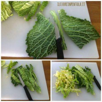come pulire la verza