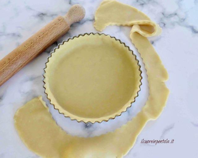 foderare teglia con pasta brisè