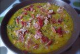 Zuppa di ceci zucca verza e speck