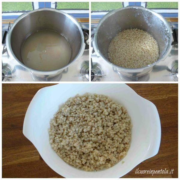 cuocere grano nella pentola a pressione