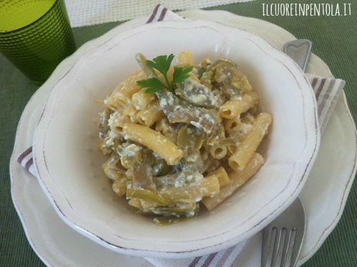Pasta con carciofi e ricotta ricetta pasta carciofi e for Ricette con carciofi