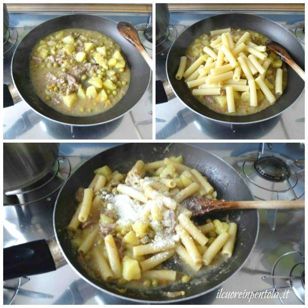 mantecare pasta con la glassa