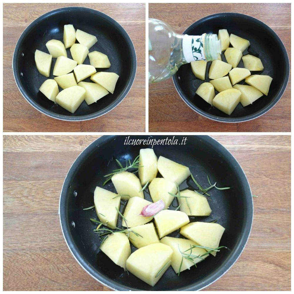 tagliare e condire patate