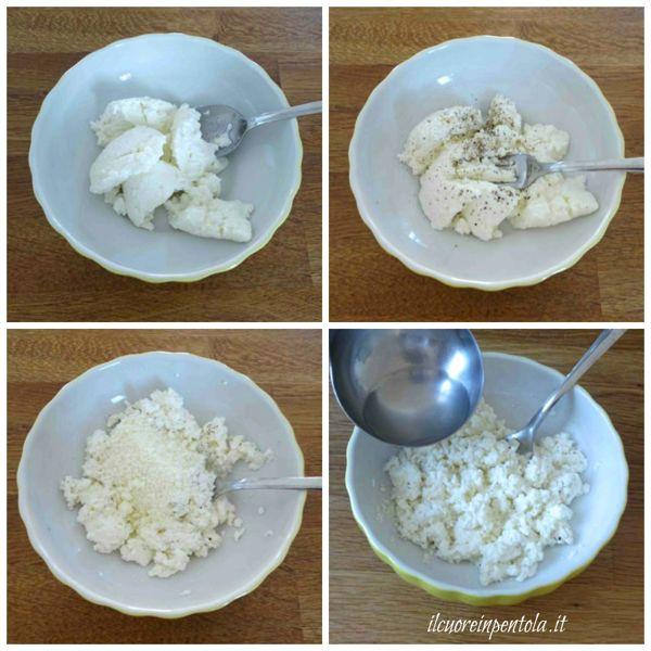 preparare ricotta per la pasta