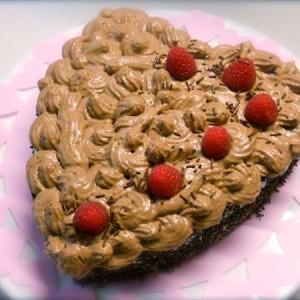 orta a cuore con mousse di cioccolato
