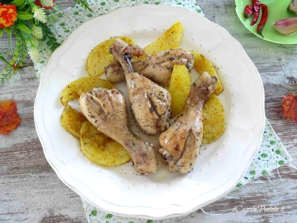 fusi di pollo al forno