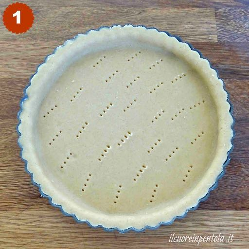 foderare stampo per crostate con pasta frolla
