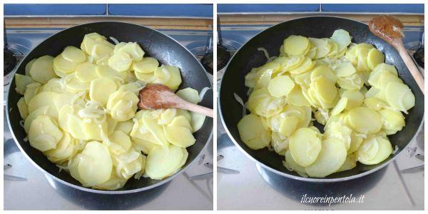 saltare patate in padella
