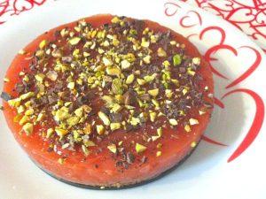 Cheesecake al gelo d'anguria