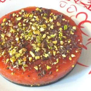 cheesecake al gelo di anguria