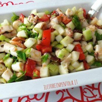 insalata di polpo cetriolo e mela