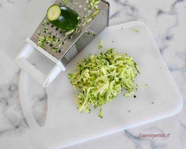grattugiare zucchine