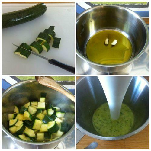 tagliare e cucinare zucchine
