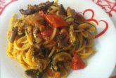 Spaghetti con verdure grigliate