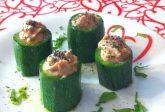 Cilindri di zucchine con crema di tonno