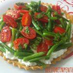 torta salata ricotta fagiolini e pomodoro