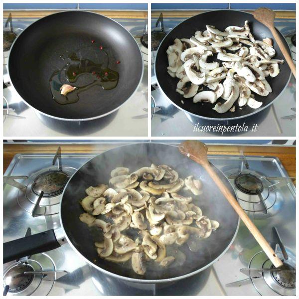 aggiungere funghi e salare