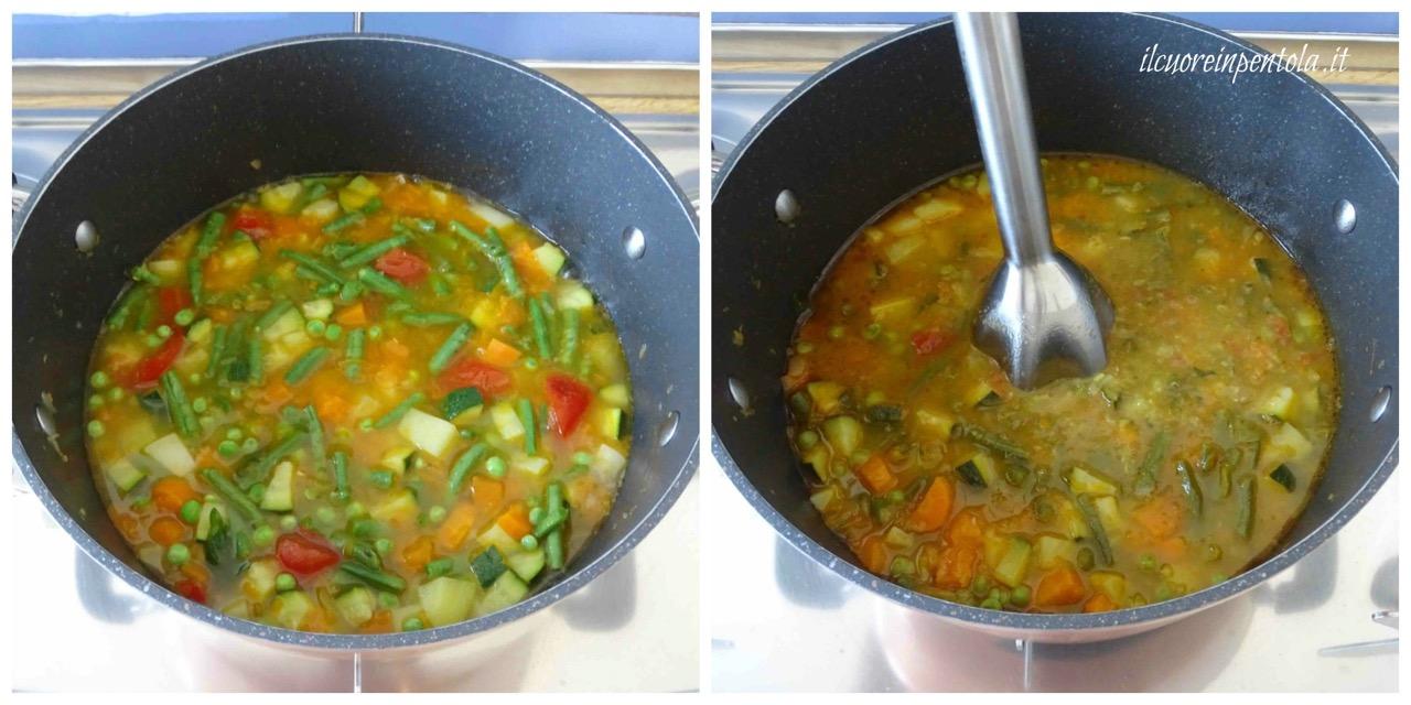 frullare minestrone